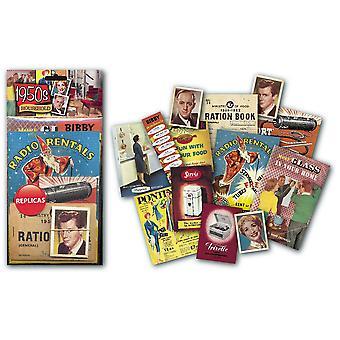 1950s paquete de recuerdos nostálgicos domésticos