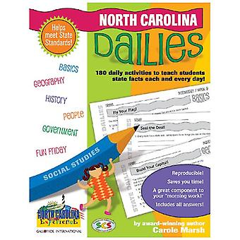 North Carolina Dailies - 180 Daily Activities for Kids by Carole Marsh