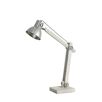 Light & Living EKERD Wood Grey With Old Silver Desk Lamp