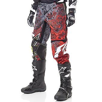 Fly Racing Rockstar Black-White-Red 2018 Kinetic MX Pant