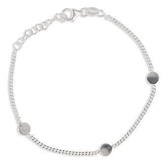 Rhodié silver arm band med 18cm Disc