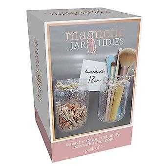 Fizz Creations Magnetic Fridge Jar Tidies
