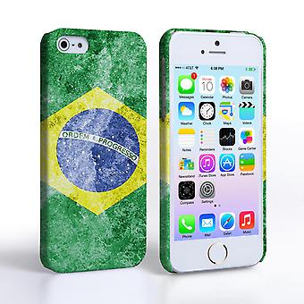 Caseflex iPhone 5 and 5S Retro Brazil Flag Case
