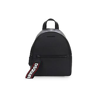 DSQUARED2 EVOLUTION TAPE BLACK LEATHER SMALL BACKPACK