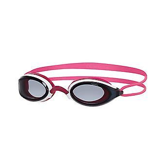 Zoggs zwembrillen Fusion Air met Fogbuster anti-mist lenzen in roze/rook/wit-one size