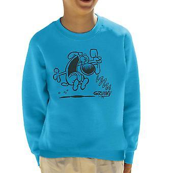 Grimmy On The Phone Kid's Sweatshirt