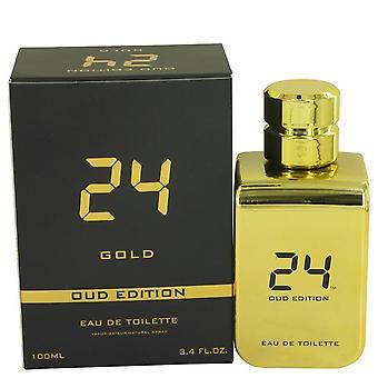 24 Gold Oud Edition Eau De Toilette Concentree Spray (Unisex) By Scent Story 100 ml