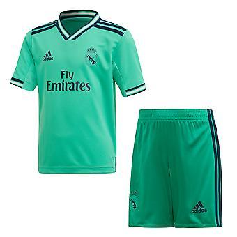 Adidas Real Madrid 2019/20 Junior barn la liga fotball tredje mini Kit grønn