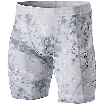 TSLA Tesla MUS17 Cool Dry Baselayer Compression Shorts - Pixel Camo/Light Gray