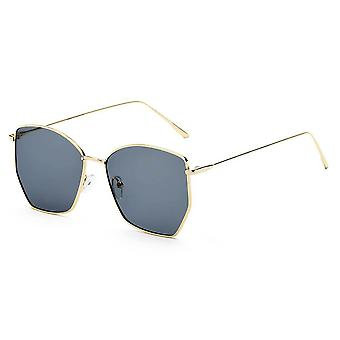 Cardiff | s2073 - women oversize geometric metal fashion sunglasses