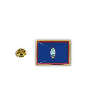 Pins Pin Badge Pin's Metal Epoxy Avec Pince Papillon Drapeau Guam USA