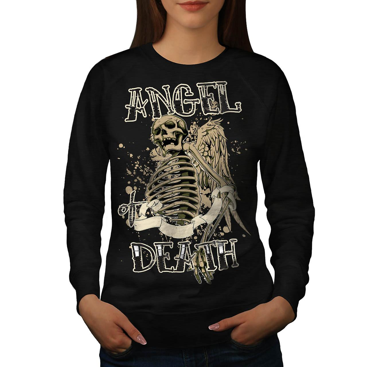 Angel Death Halo Wing Hell Gate Women Black Sweatshirt | Wellcoda