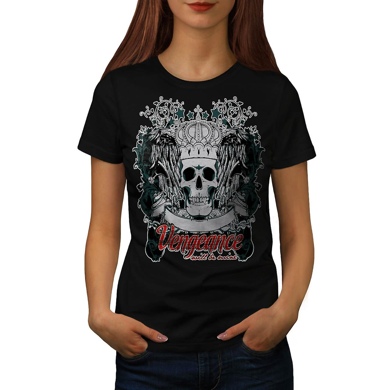 T-shirt nero vendetta vendetta occhio Thrones donne | Wellcoda