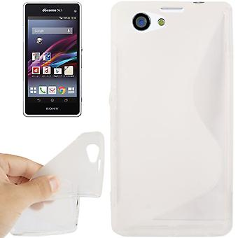 Mobiele case TPU case voor Sony Xperia Z1S / Z1 mini transparant