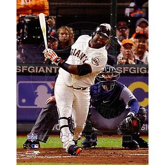 Pablo Sandoval Solo Home Run 5th Inning Game 1 of the 2012 MLB World Series Action Sports Photo