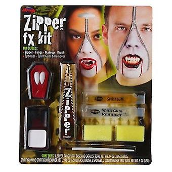 Vampire Deluxe Zipper Make Up Kit Halloween Fancy Dress Palmer Agencies Horror
