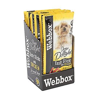 Webbox sej hunde glæde velsmagende hund Sticks kylling 6's (pakke med 12)