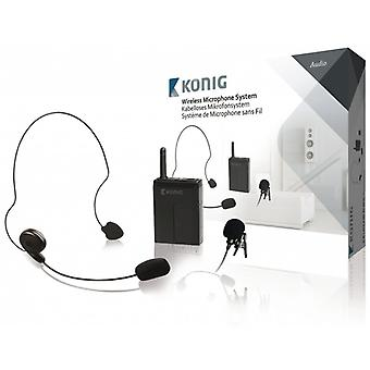 Konig wireless microphone system with portable device