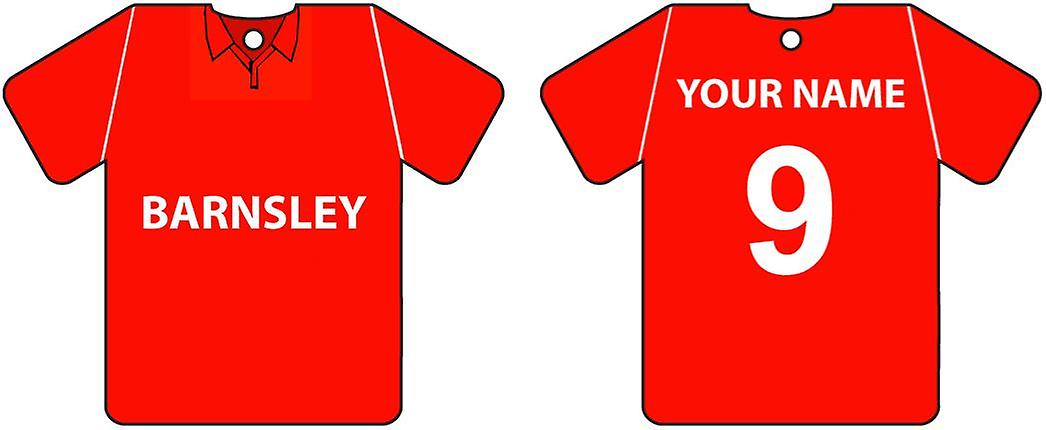 Personalised Barnsley Football Shirt Car Air Freshener
