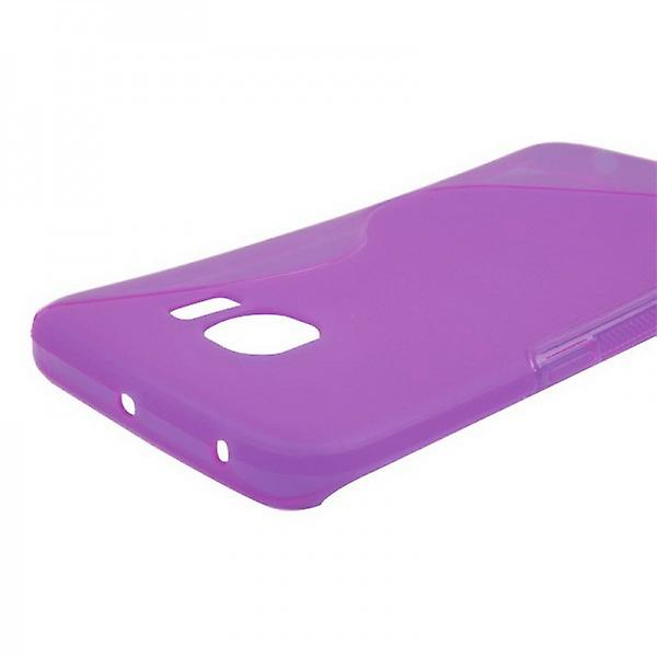 S-line silicone case purple for Samsung Galaxy S6 edge G925 G925F