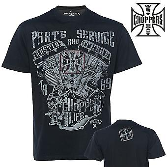 West Coast choppers T-Shirt parts and service tea