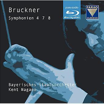 Bruckner - Syms 4 7 & 8 [BLU-RAY] USA importerer