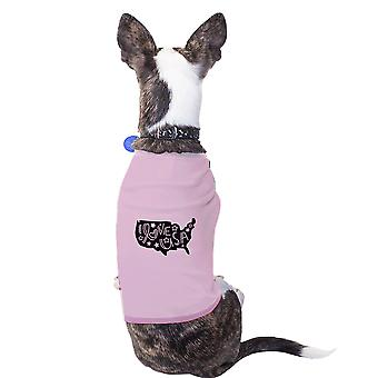 I Love USA Map Pink Pet Shirt For Small Dogs Gifts For Dog Owners