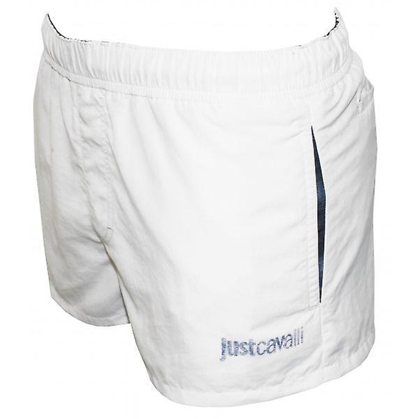 Just Cavalli Luxury Swim Shorts, White