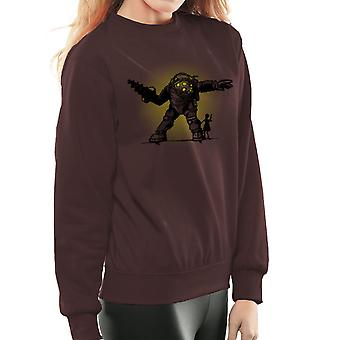 Pair Bond Big Daddy Little Sister BioShock Women's Sweatshirt