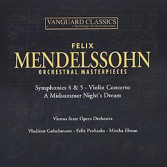 F. Mendelssohn - Mendelssohn: Orkestrale mesterværker [CD] USA import