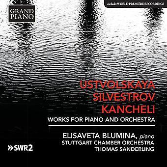 Kancheli / Blumina - Silvestrov & Kancheli: værker for klaver & orkester [CD] USA import