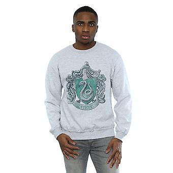 Harry Potter Men's Slytherin Distressed Crest Sweatshirt