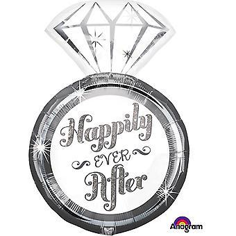 Feliz siempre después del anagrama anillo globo Supershape