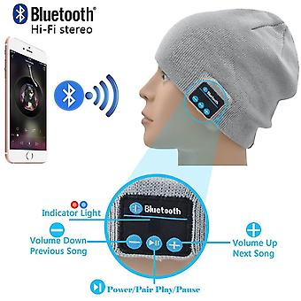 ONX3 (Light Grey) Unisex One Size Winter Beanie Hat with Built-in Wireless Stereo Speaker Headphone For Samsung Galaxy Tab S2 8.0 SM-T719