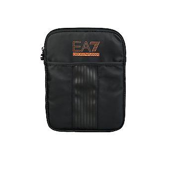 Ea7 Emporio Armani EA7 By Emporio Armani Sporty Messenger Bag In Black And Navy Blue 2751005P296