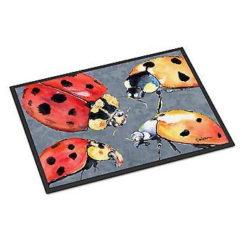 Carolines Treasures  8876JMAT Lady Bug Multiple Indoor or Outdoor Mat 24x36 Door