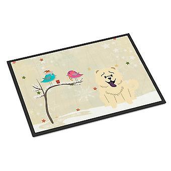 Рождественские подарки между друзьями Чау белая внутренняя или наружная мат 18 x 27