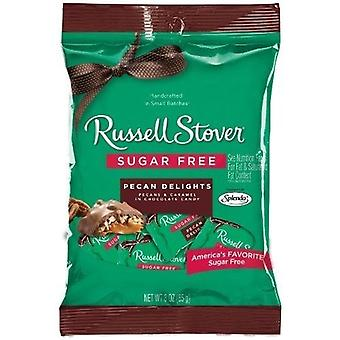 Russell Stover Chocolate Sugar Free Pecan Delights 2 Bag Pack