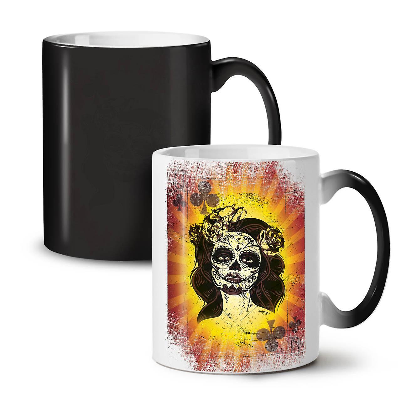 Changing Tea 11 Skull OzWellcoda Game New Coffee Black Colour Poker Mug Ceramic shdQrtCx