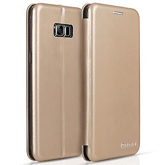 Caseflex Samsung Galaxy S8 Plus Snap Wallet Case - Gold