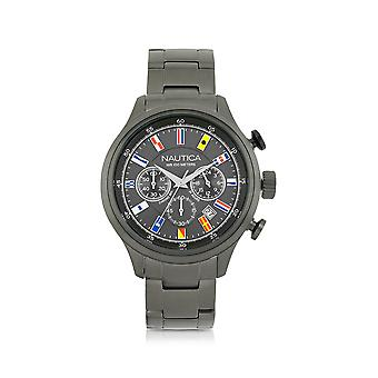Nautica men's NAI20011G grey steel watch