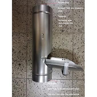 Regenwasser-Umsteller - Metall 100 mm - - verzinktem Stahl für Fallrohr - Dachrinnen