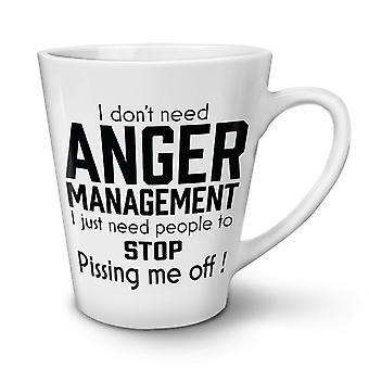Anger Management neuer weißer Tee Kaffee Keramik Latte Becher 17 oz   Wellcoda