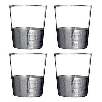 Premier Housewares Apollo Set of 4 Tumblers, Silver