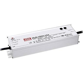 Mean Well HLG-150H-24 LED driver, LED transformer Constant voltage, Constant current 150 W 6.3 A 12 - 24 Vdc PFC circuit