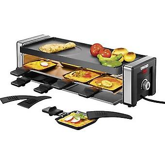 Raclette Unold Delice with hot stone, with manual temperature settings Black/silver