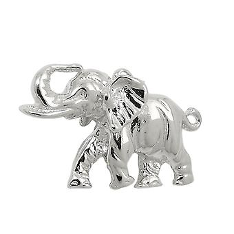 Polished 925 silver elephant pendant