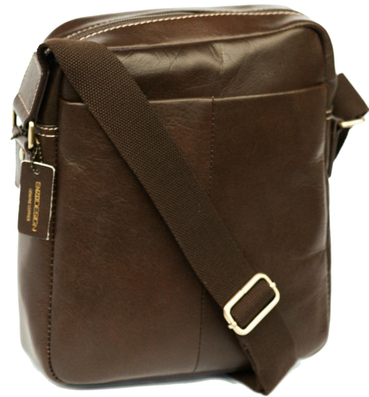 Soft Leather Cross Body Shoulder Bag Ipad Tablet Pocket Strap Case Messenger