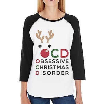 Rudolph OCD Womens Raglan Shirt