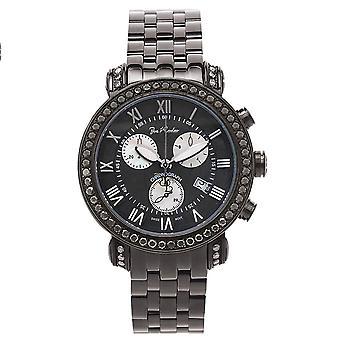 Joe Rodeo diamante reloj de hombre - CLASSIC negro 3,5 quilates